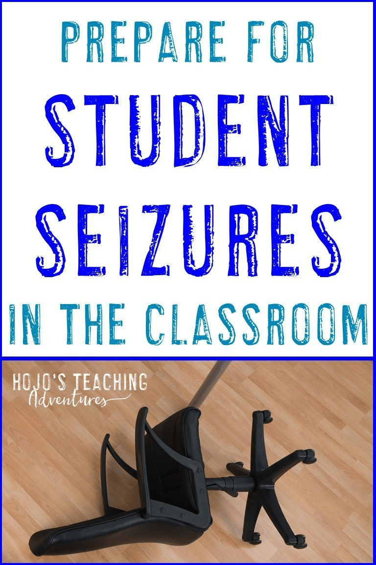 how to handle student seizures in the classroom with image of tipped chair