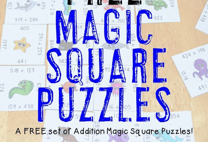 FREE Magic Square Puzzles