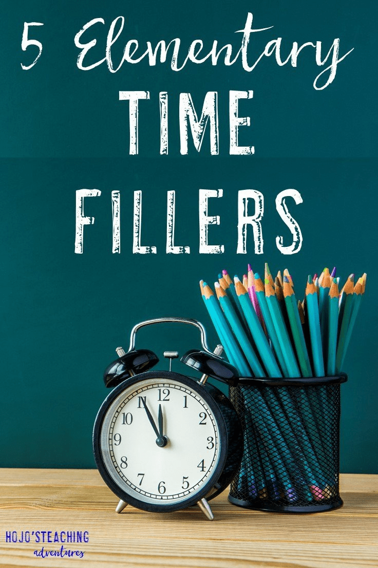 If you're a teacher, at some point you are going to need one of these elementary time fillers! With these five time fillers you're sure to find something you can use right away in your preschool, Kindergarten, 1st, 2nd, 3rd, 4th, or 5th grade classroom. Click through now to see how you can use these tomorrow!