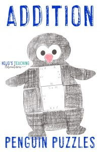 Click to purchase the ADDITION penguin puzzle on TpT!