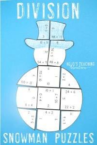 Snowman Division Puzzles