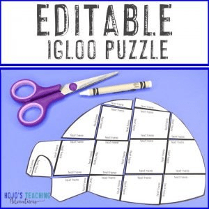 EDITABLE Igloo Puzzles so you can make your OWN puzzles on any topic