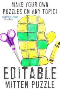 Editable Mitten Puzzle
