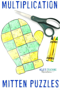 Multiplication Mitten Puzzles