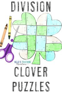 Click here to buy these St. Patrick's Day division clover puzzles!