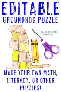 Click to buy an EDITABLE Groundhog Day puzzle!