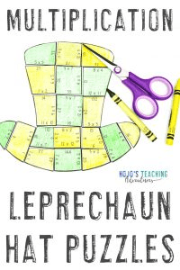 Click here to buy a leprechaun activity - multiplication puzzles!