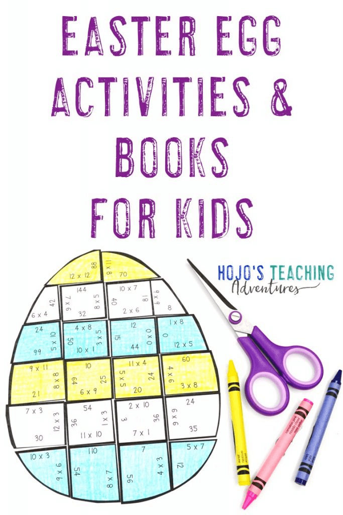 Easter egg activities and books for kids
