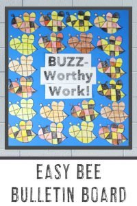 """BUZZ-Worthy Work!"" - Easy Bee Bulletin Board"