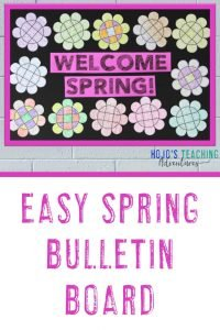 "Easy Spring Bulletin Board - ""Welcome Spring!"""