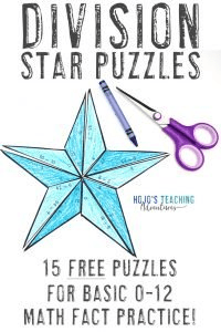 Click to download your FREE division star math activities!