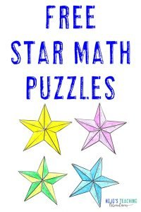 FREE Star Math Puzzles