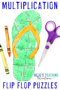 Click to buy your own multiplication flip flop activities!