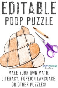 Editable Poop Puzzle - click to get your FREE copy!