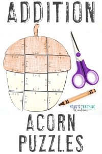 Click to get your own addition acorn math games!