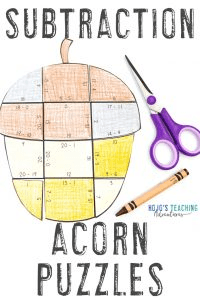 Click to buy your own subtraction acorn games!