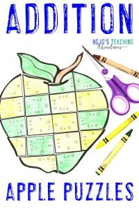 Click to get your own ADDITION Apple Puzzles today!