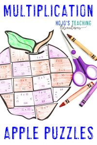 Click here to get your own Multiplication Apple Puzzles!