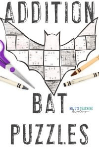 Click to get your ADDITION bat math games today!