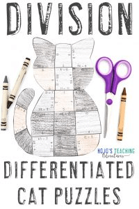 Click here to get your differentiated DIVISION math centers!