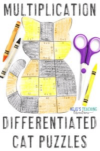 Click here to buy your own differentiated cat math multiplication activities!
