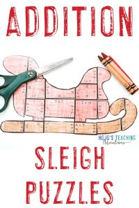 Click to get your own addition santa sleigh puzzles now!
