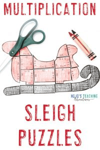 Click to get your own multiplication Santa sleigh activities now!