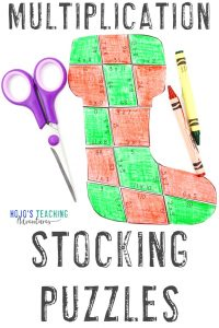 Click to buy these multiplication stocking puzzles!