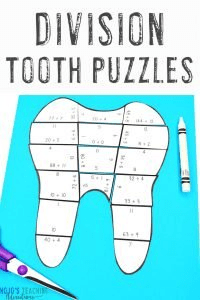 Grab your DIVISION Dental Health Month Tooth Puzzles here!