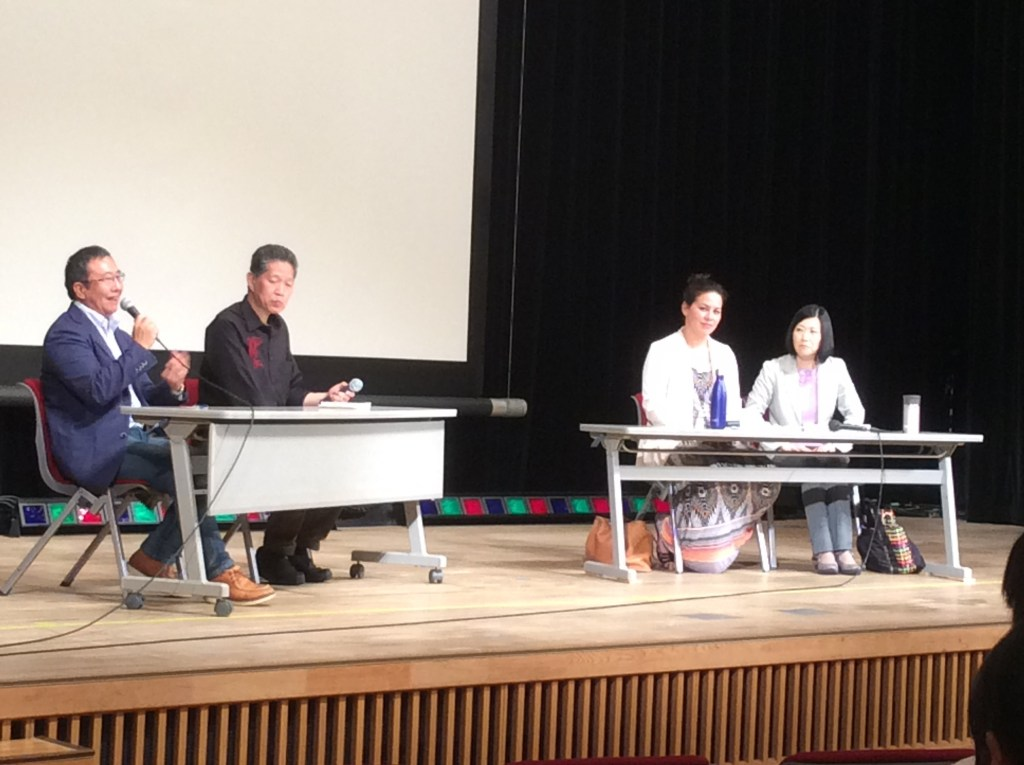 セヴァン515講演会 トークセッションで話す原田昌樹さん