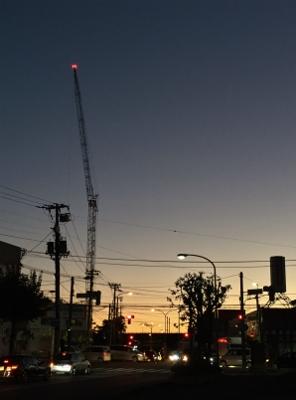 北広島市役所あたりの夕焼け。9月