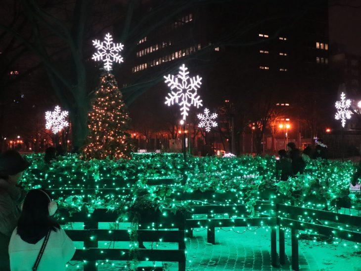 さっぽろホワイトイルミネーションの景色/ミュンヘンクリスマス市の景色/大通公園会場