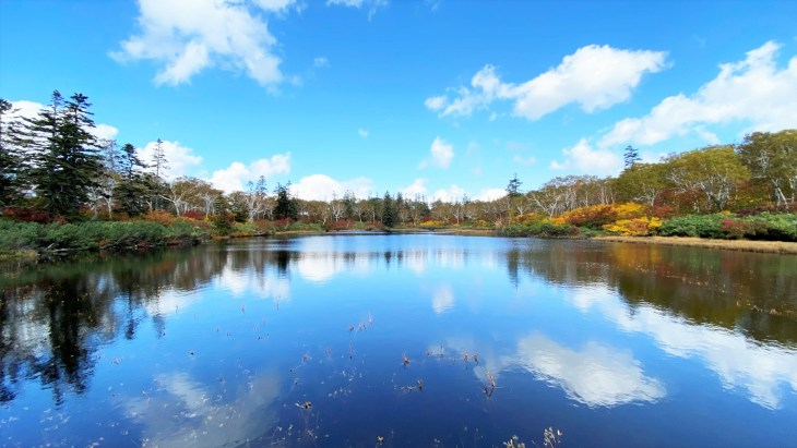 神仙沼の素晴らしい景色、紅葉の季節/共和町 10月
