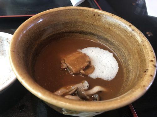 鬼わそとのカレーうどん黒豚スープ