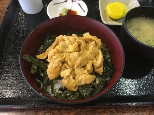 余市柿崎商店のウニ丼