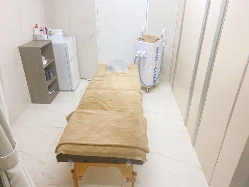 メンズクリア北海道札幌店の施術室