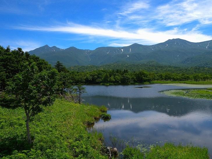 湖畔展望台から一湖眺望
