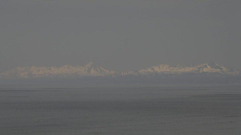 フレトイ展望台から知床連山