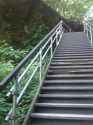 ラストの階段