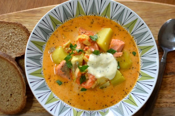 サフラン香るスウェーデンのフィッシュスープ Fisksoppa