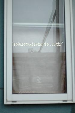 玄関のシェードカーテン