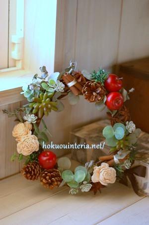 多肉植物のクリスマスリース