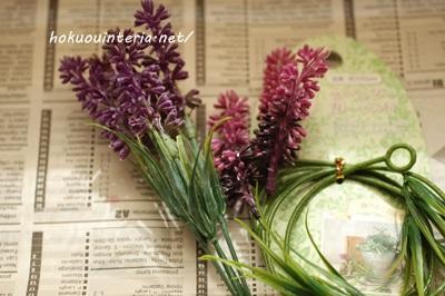 フラワーアレンジメントの造花材料