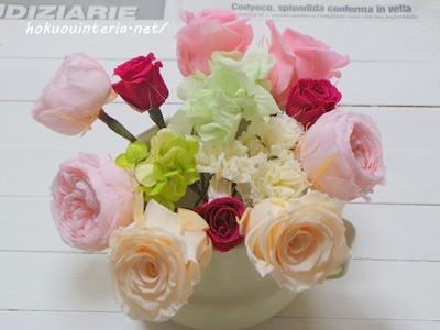 プリザーブドフラワーの花材