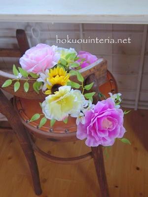 花かんむりをインテリア飾りに