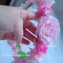 プリザーブドフラワーで作る花かんむり作り方