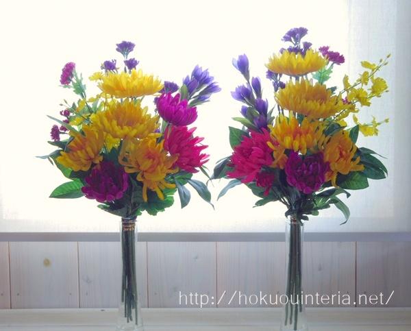 お墓のお供え花作り方