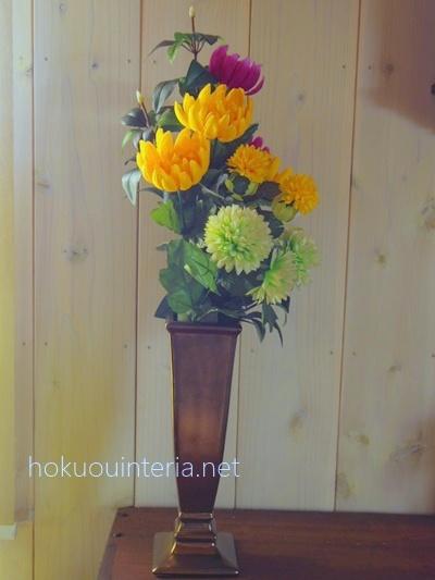 仏花の造花で花束を作る方法