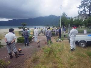北都建設 海岸掃除