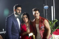 "Varun, Farah Khan & Abhishek Bachchan in Dubai at Masala Awards 2014! """